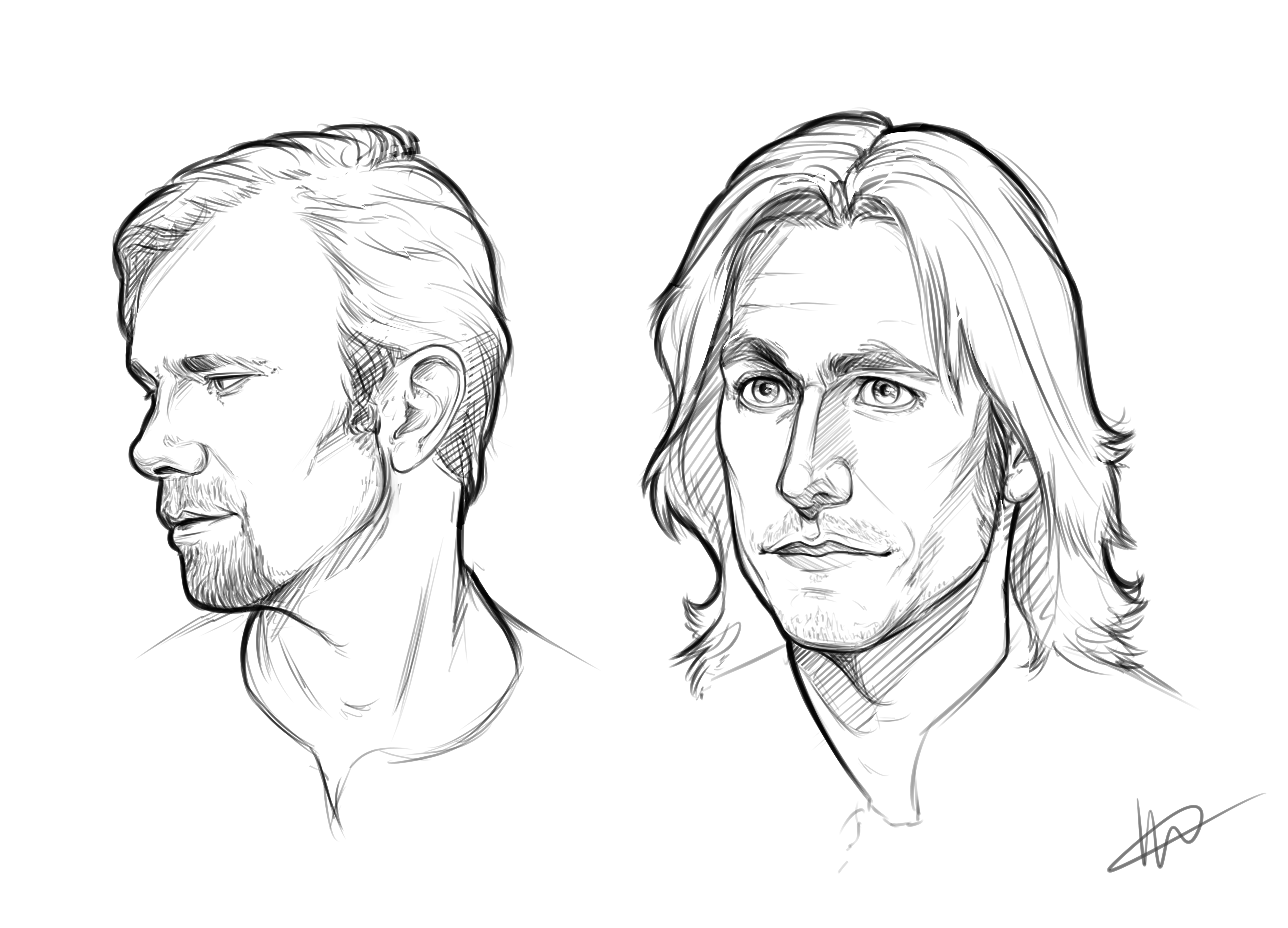 5000x3600 No Spoilers] Some Practise Sketchingdrawing To Get Familiar