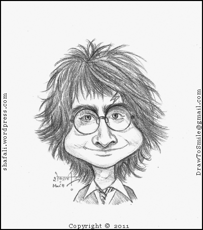 400x454 Caricaturecartoon Harry Potter The Boy Who Lived And Changed
