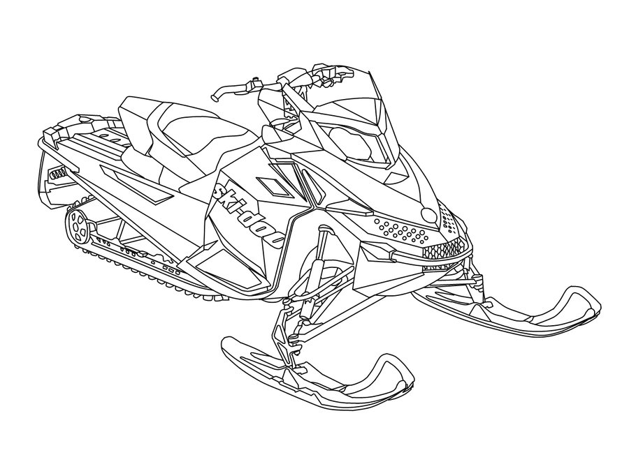 ski doo drawing at getdrawings com