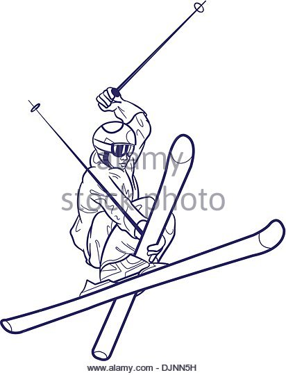412x540 Snow Skiing Sketch Stock Photos Amp Snow Skiing Sketch Stock Images