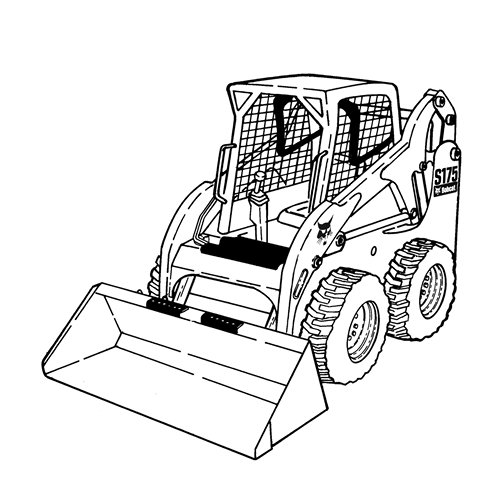 Skid Steer Drawing At Getdrawings Com