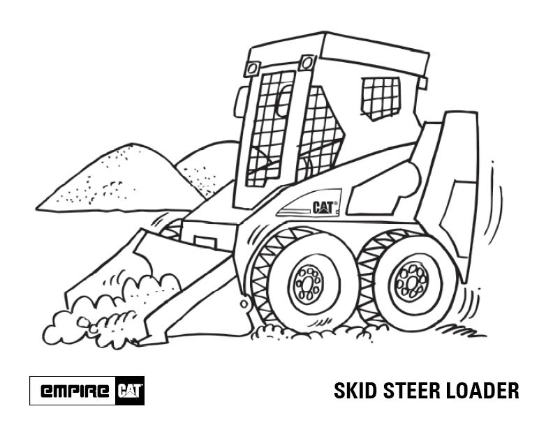 792x612 Cat Loader Coloring Pages Tractor Coloring Pages