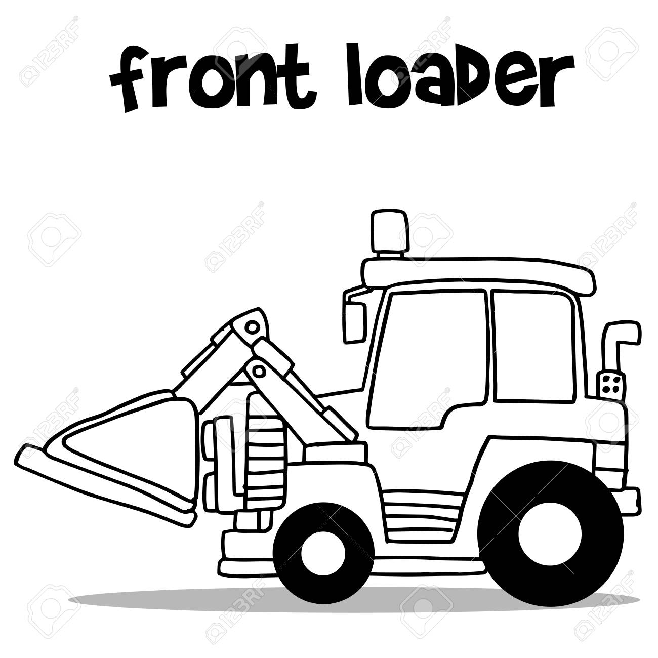 1300x1300 Front Loader With Hand Draw Royalty Free Cliparts, Vectors,