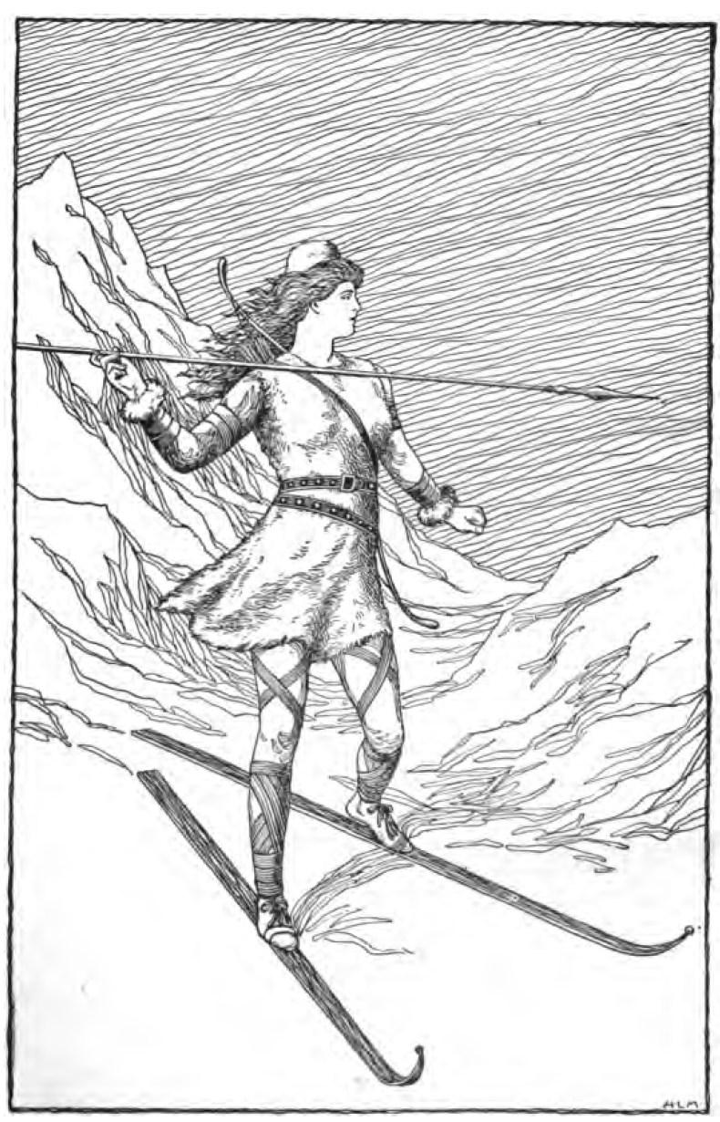 Skier Drawing