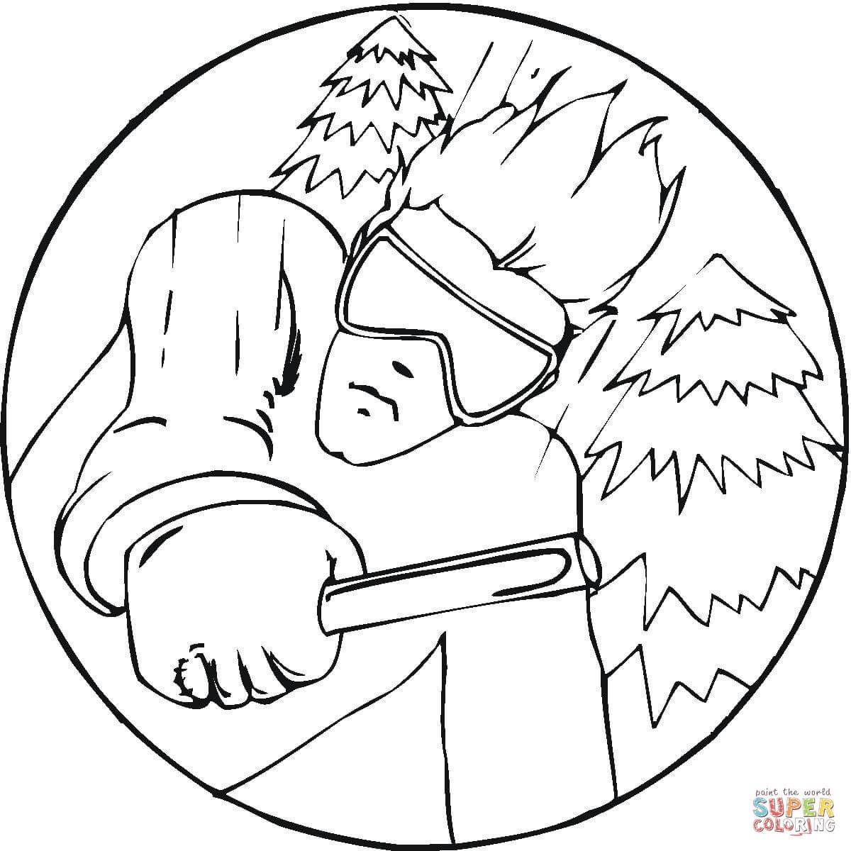 Skiing Drawing