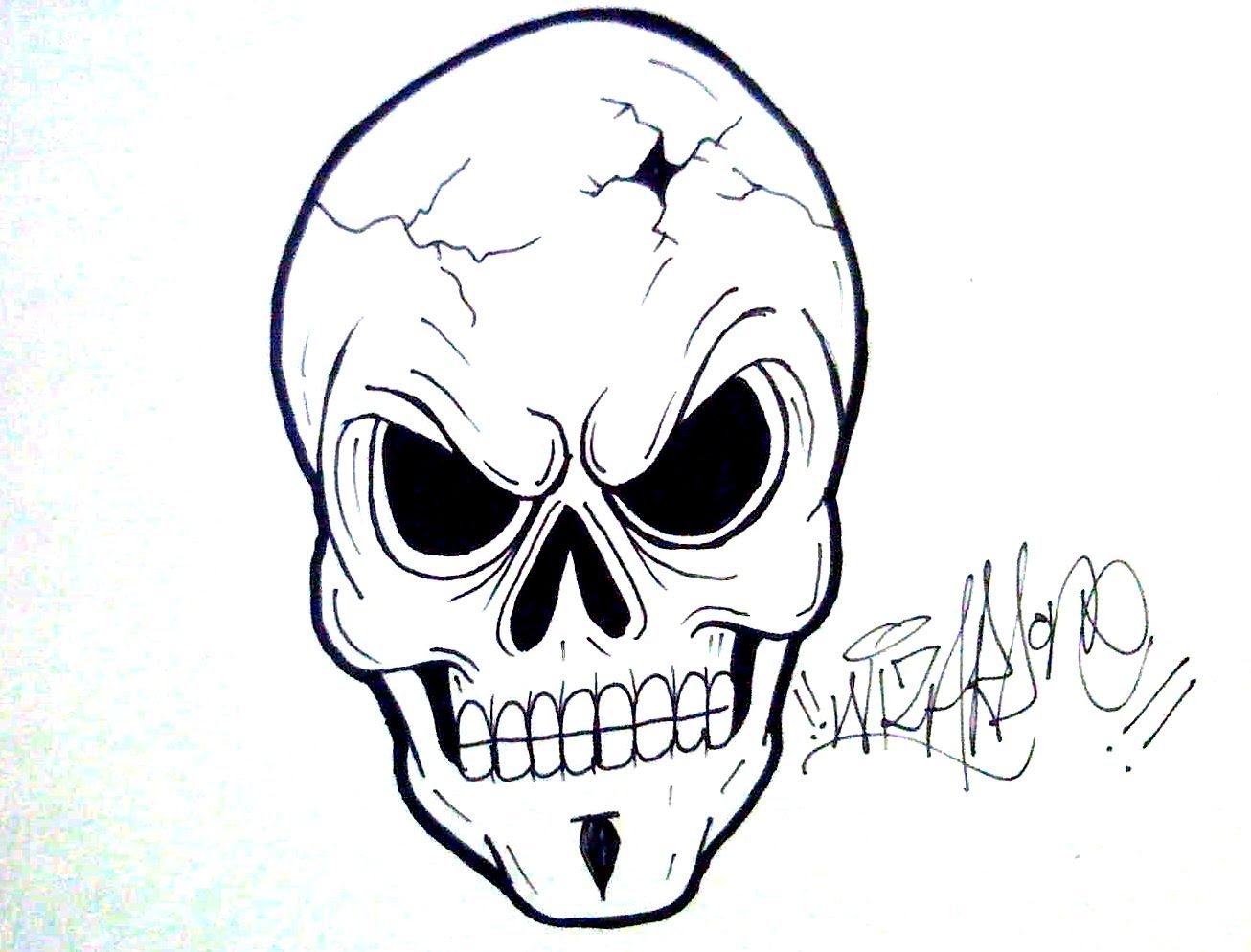 1306x994 How To Draw A Skull