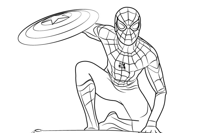 800x539 Spiderman Amazing Drawing Drawing Skill