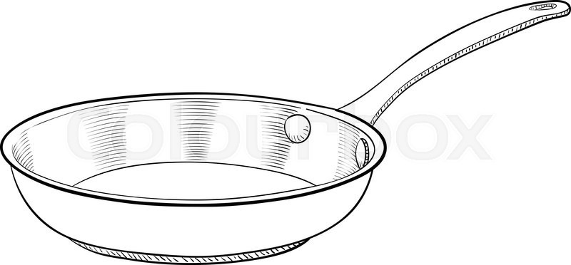 800x372 A Hand Drawn Vector Illustration Of A Cooking Pan Stock Vector