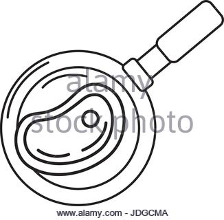 326x320 Pan Cooking , Vector Line Design Icon Stock Photo, Royalty Free