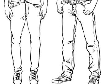 340x270 Hand Drawn Jeans Etsy