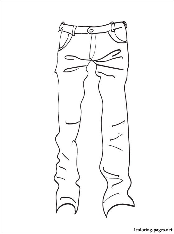 560x750 Jeans Coloring Pages