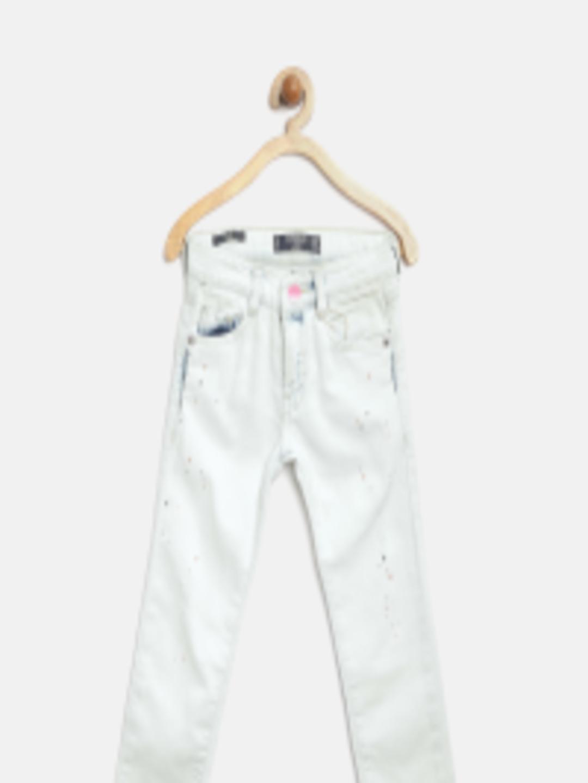 1080x1440 Buy Mango Kids Girls Off White Printed Slim Jeans
