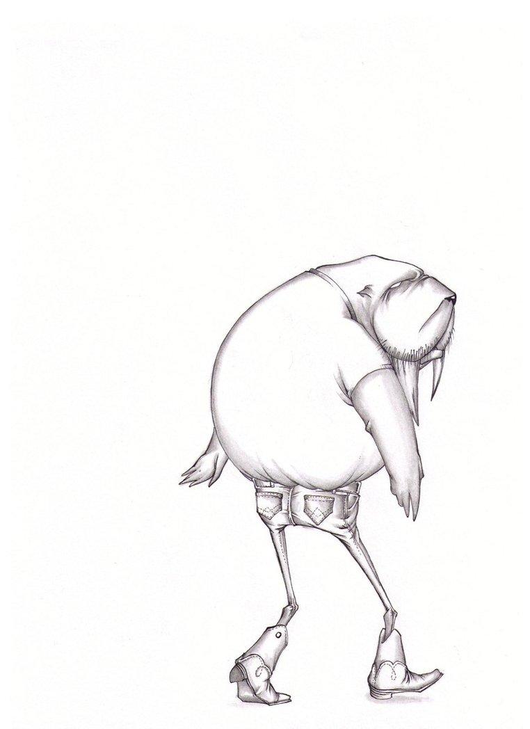 762x1048 Walrus In Skinny Jeans By Ianmangan