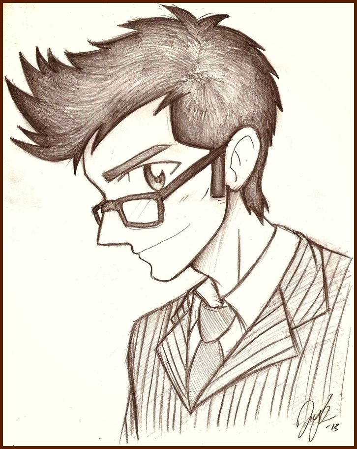Skinny Man Drawing