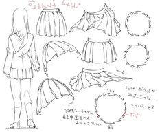 236x192 How To Draw Uniformsailorpleaded Skirts.