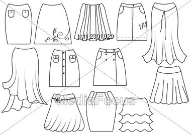 380x269 Stock Photo Skirts For Woman Fashion On White