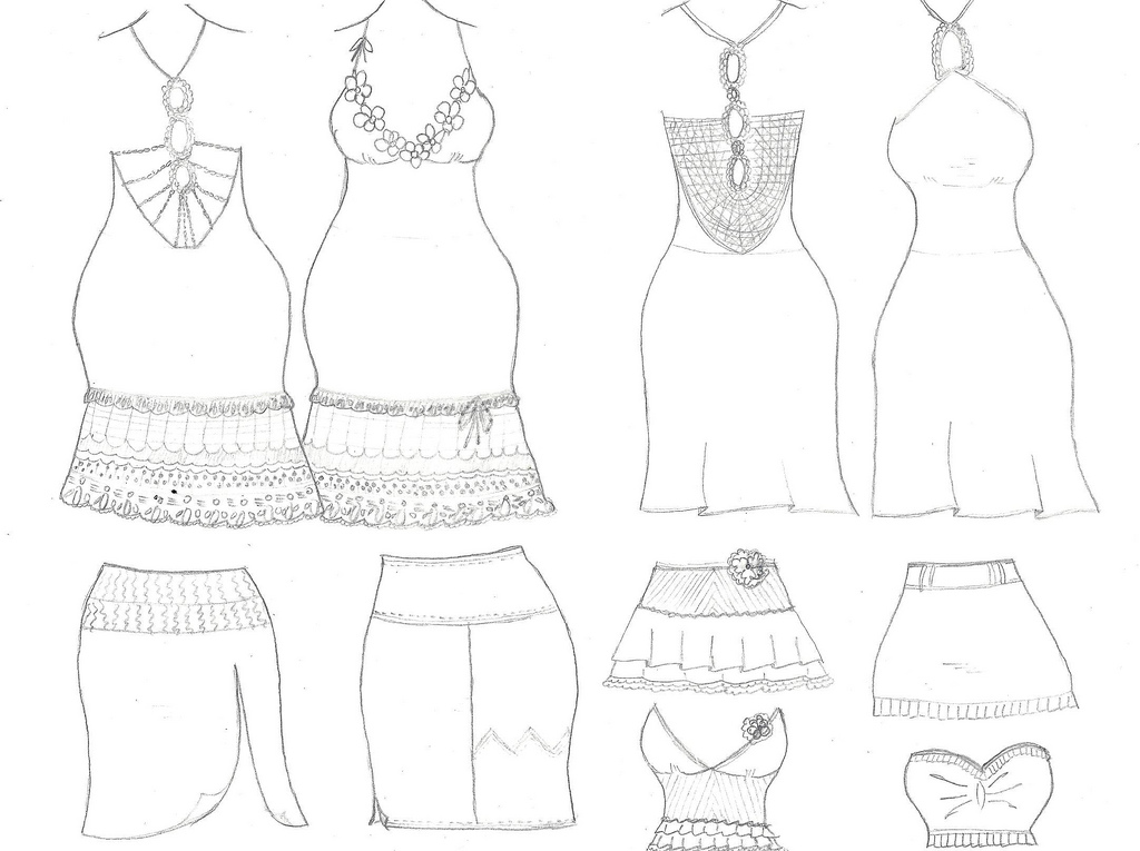 1024x765 Fashion Designer. Dresses, Skirts, Tops, Drawings.