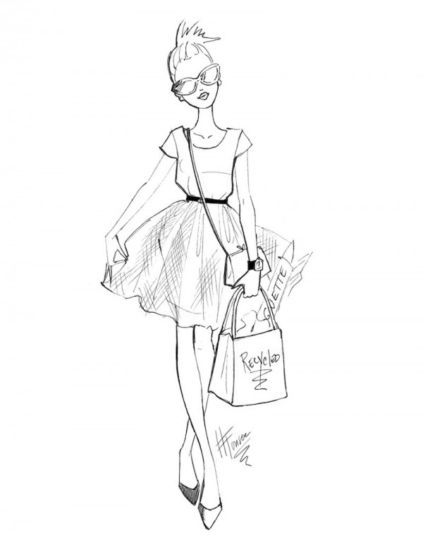 600x776 Fashion Sketch