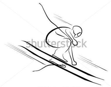 Skis Drawing