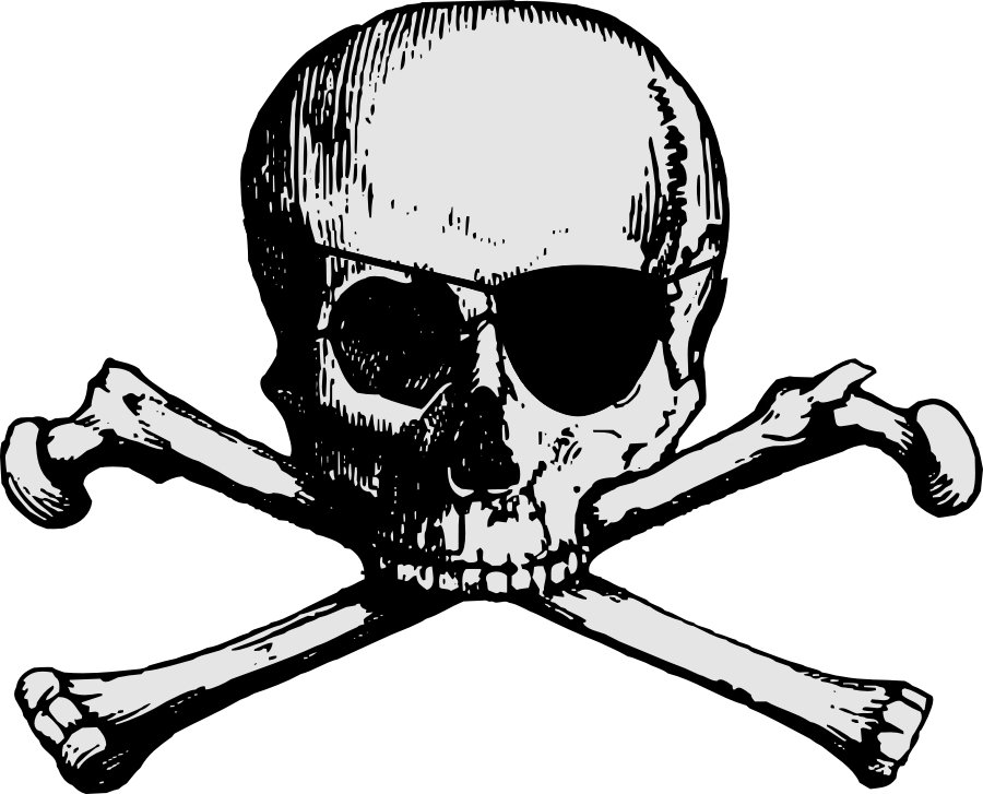 900x727 Pirate Skull And Cross Bones