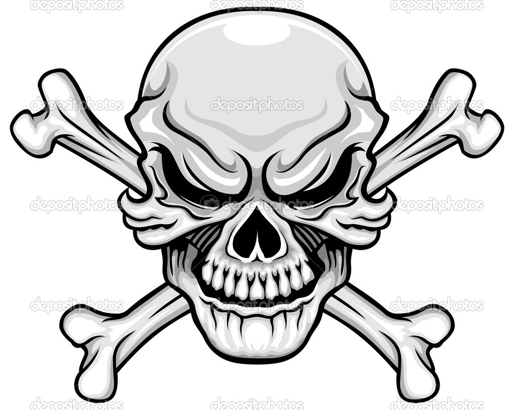 1023x816 Skull And Crossbones Coloring Pages