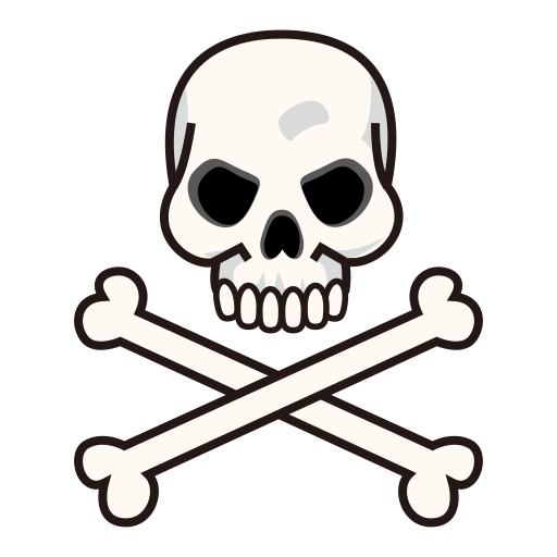 512x512 Skull And Crossbones Emoji For Facebook, Email Amp Sms Id  12830