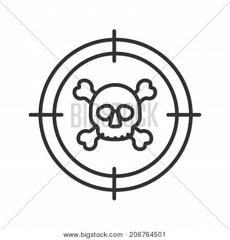 450x470 Aim On Skull Crossbones Linear Vector Amp Photo Bigstock