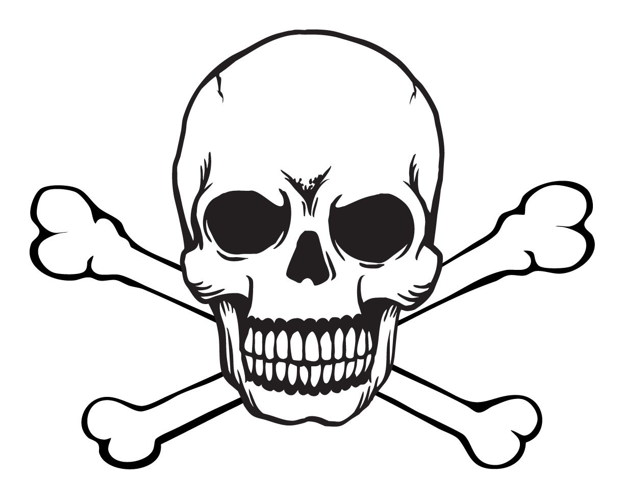 1223x984 Skull And Crossbones Free Vector 4vector