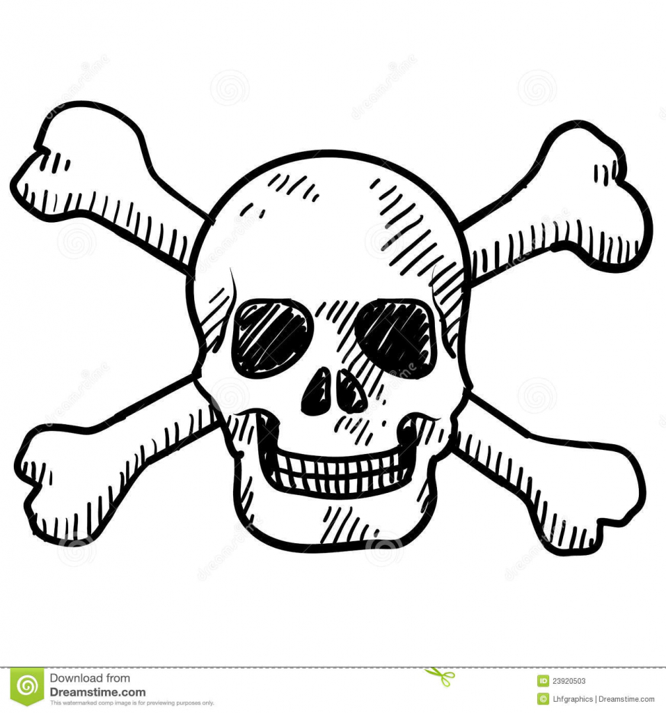 957x1024 Drawing Of Skull And Crossbones How To Draw Skull And Crossbones