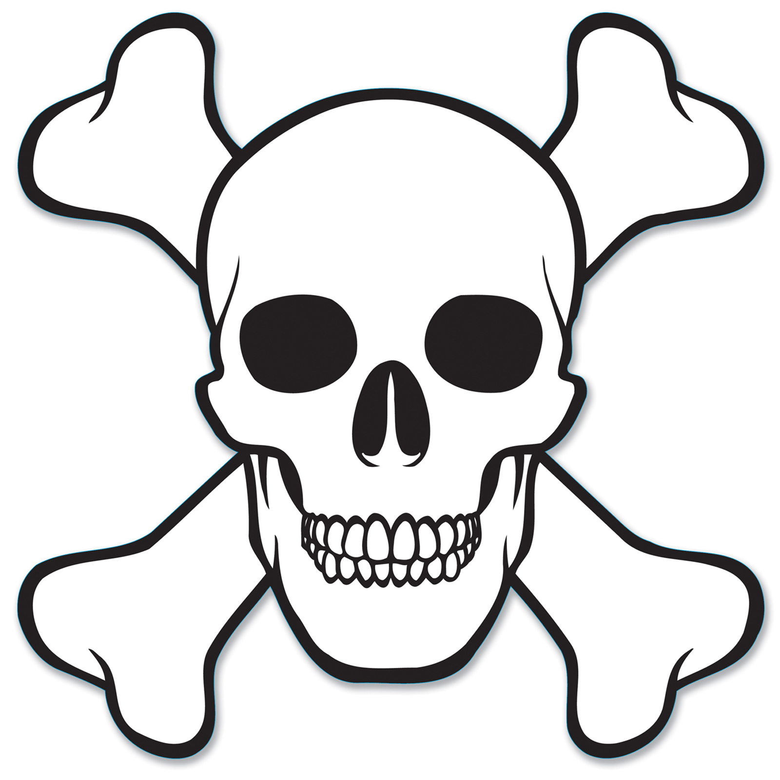 1600x1600 Easy To Draw Skull And Crossbones