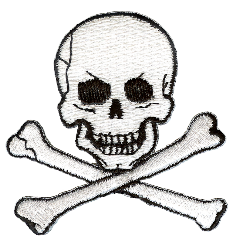 768x797 Jolly Roger Skull And Crossbones Embroidery Patch