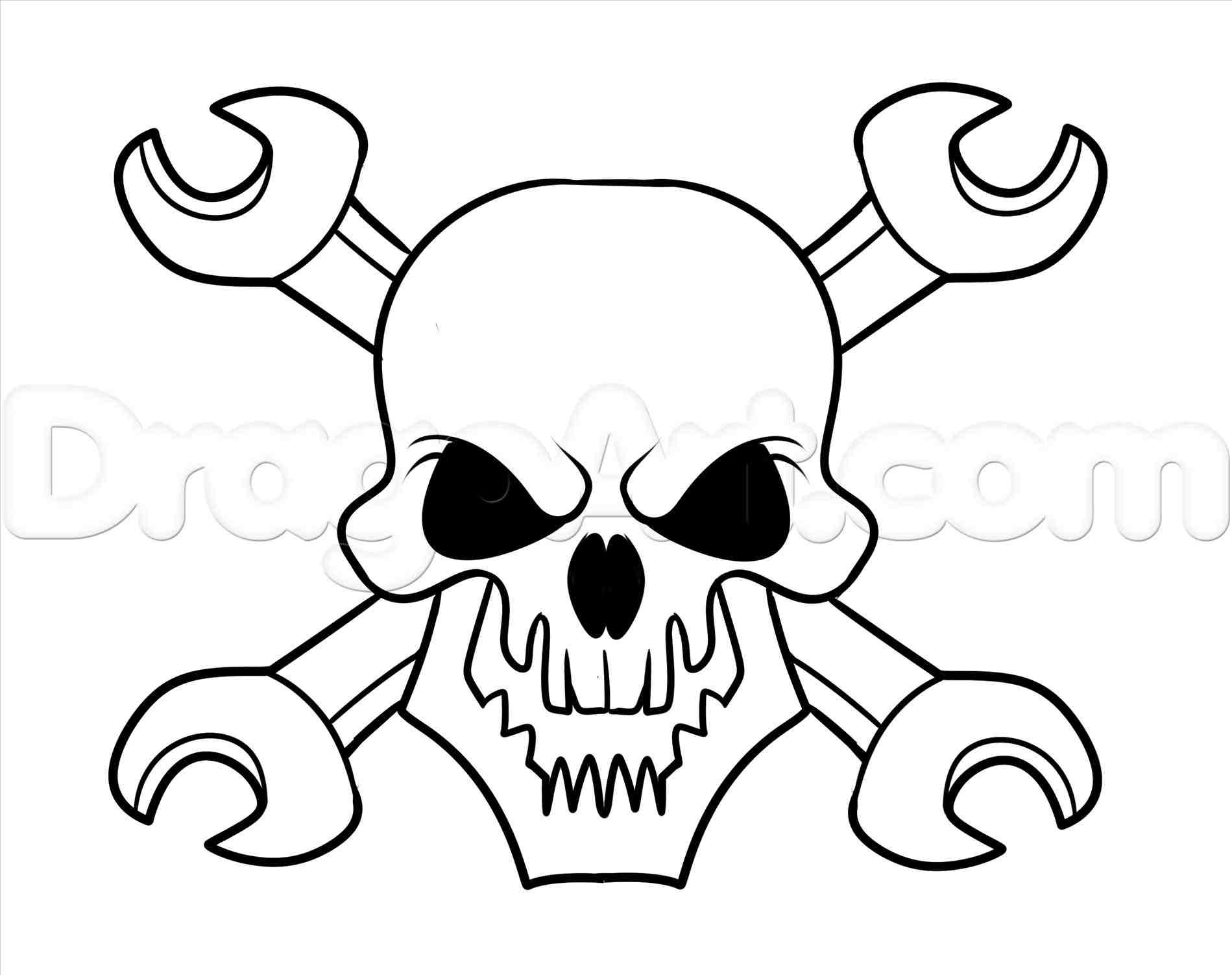 1899x1502 Simple Skull And Crossbones Drawing