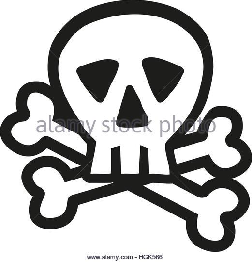 521x540 Skull Crossbones Outline Stock Photos Amp Skull Crossbones Outline