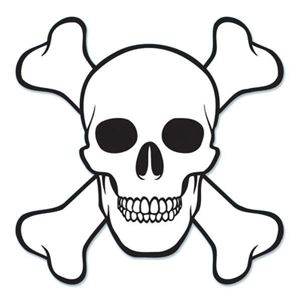 600x600 Skull And Cross Bones Cutout