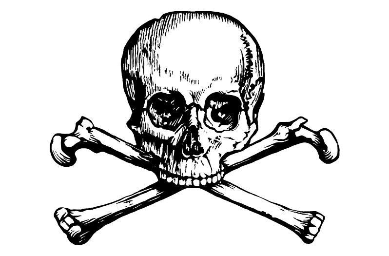 798x525 Vintage Victorian Steampunk Skull And Crossbones Vectors Clip