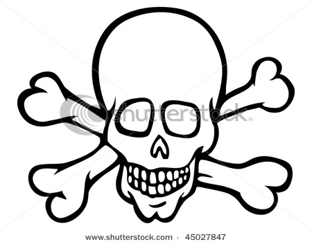 450x353 Of A Skull And Cross Bones In A Vector Clip Art Picture