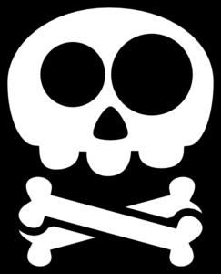 243x300 Cute Skull And Crossbones Clip Art
