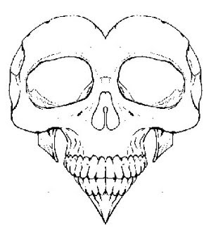 300x333 Drawings Of Skulls And Hearts