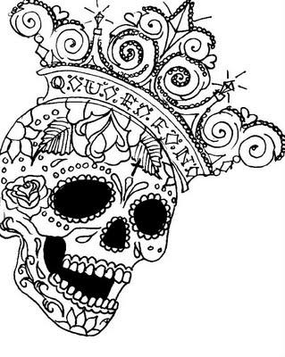 319x400 Lizvengeance Art I Heart Sugar Skulls Calavera Inspirations