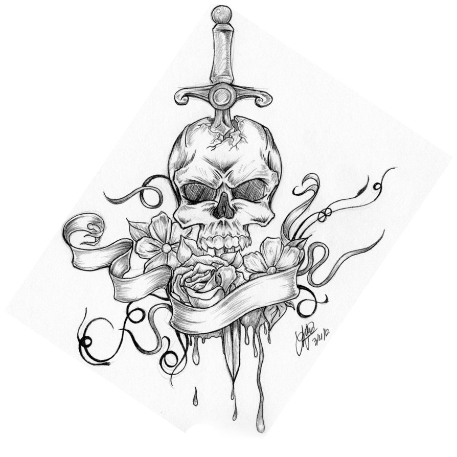 894x894 Skull By Shaddo Angel