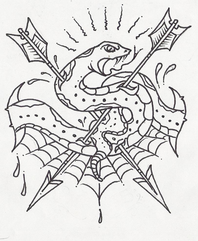 811x986 Skull Heart Snake By Sambarrett