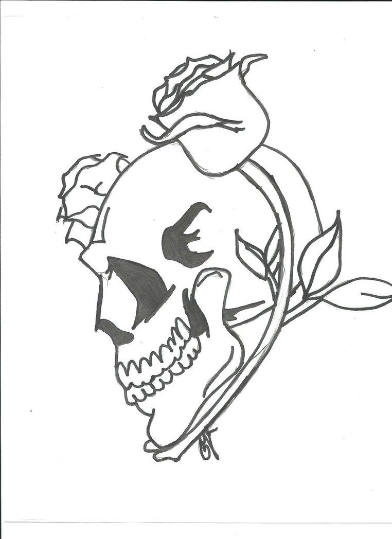 762x1048 Thorny Skull Rose By Dorkieeart