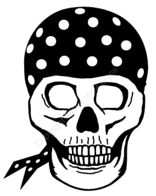 Skull Bandana Drawing