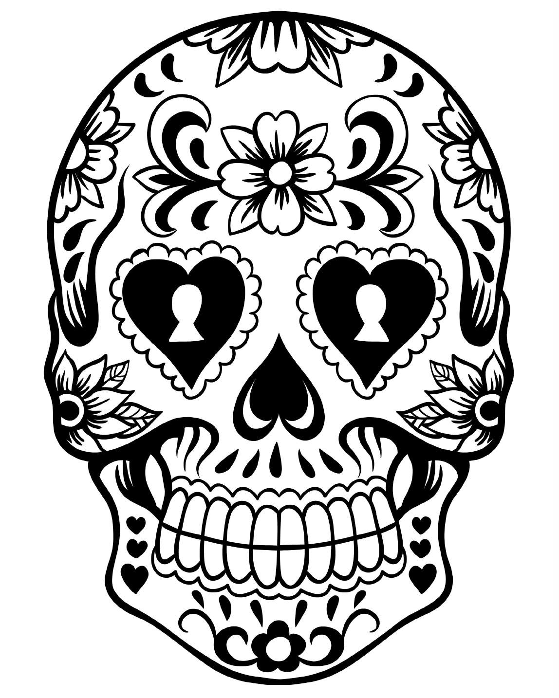 Skull Black And White Drawing at GetDrawings.com | Free for personal ...
