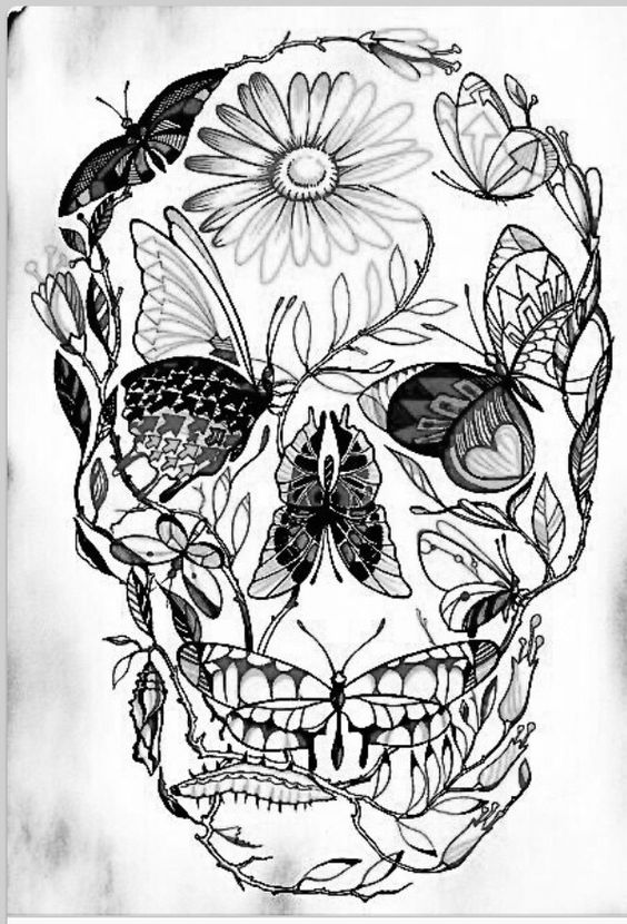564x830 Sugar Skull Butterfly Dont Like The Style But I Like The Concept