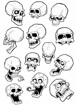Skull Cartoon Drawing