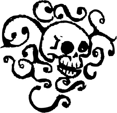 381x369 Cartoon Skull Free Vector In Adobe Illustrator Ai ( Ai ) Vector