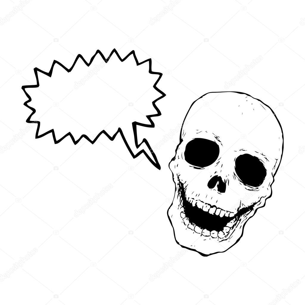 1024x1024 Laughing Skull Stock Vector Lineartestpilot