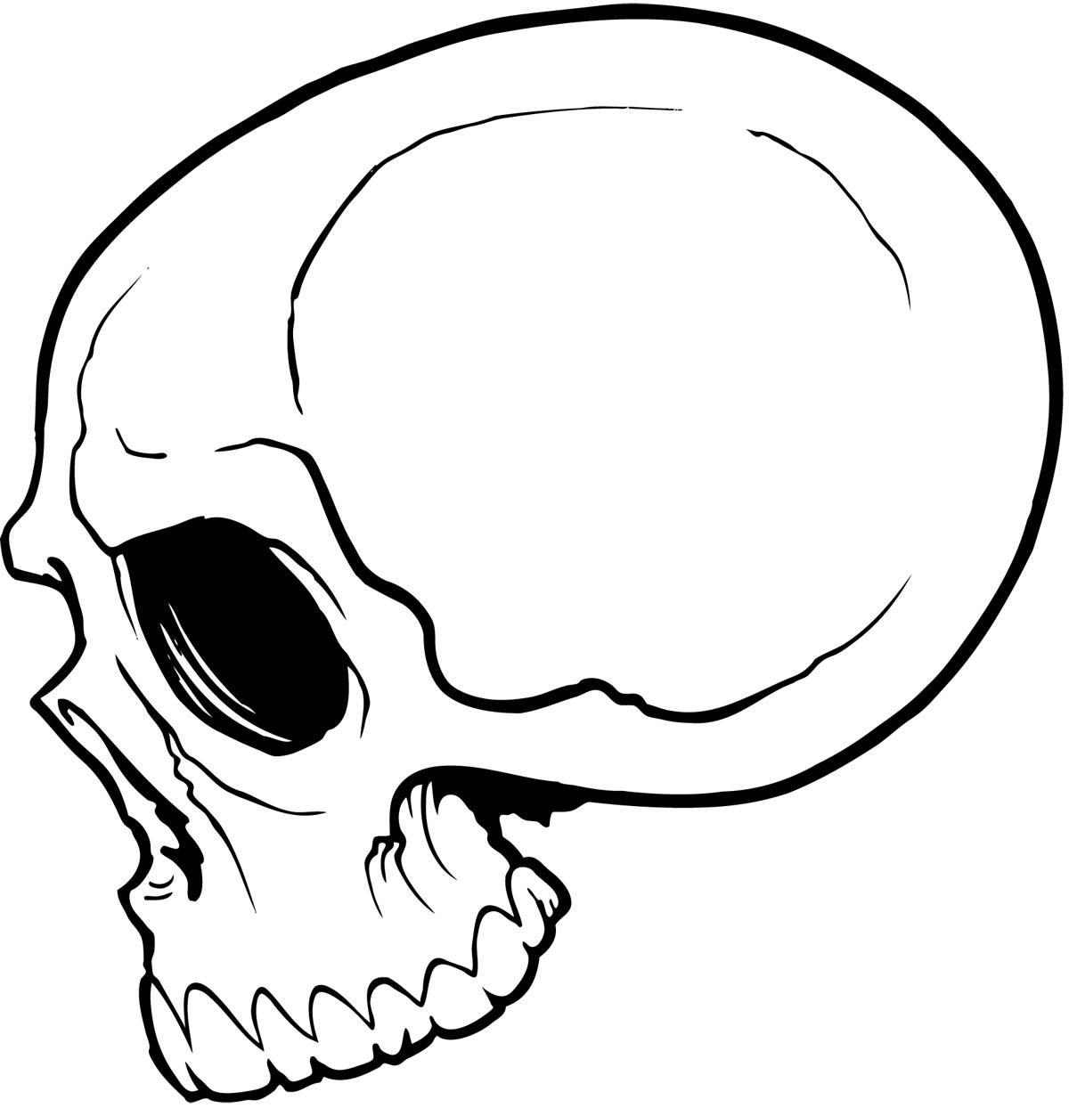 1200x1244 Simple Cute Skull Drawing