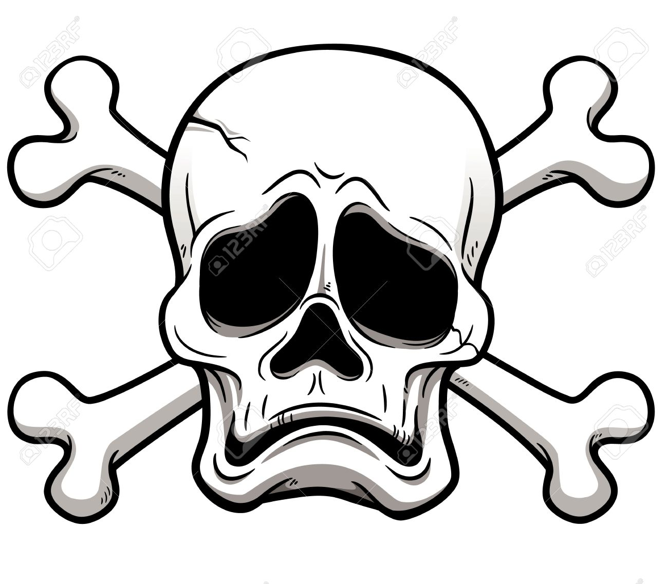 1300x1137 Illustration Of Skull And Crossbones Royalty Free Cliparts